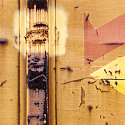 Train Art Abstract Print by Carol Leigh