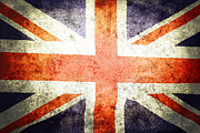 Flag Prints - Union Jack  Print by Les Cunliffe