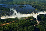 Zambia Waterfall Photos - Victoria Falls by Aidan Moran