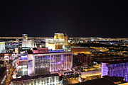 Flamingo Prints - View from Eiffel Tower in Las Vegas - 01131 Print by DC Photographer