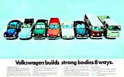 Vw Beetle Framed Prints - 8 Ways Framed Print by Benjamin Yeager