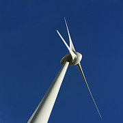 Wintry Metal Prints - Wind turbine Metal Print by Bernard Jaubert
