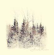 Winter Wonderland. Elegant Knickknacks From Jennyrainbow Print by Jenny Rainbow