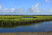 Tidal Photographs Framed Prints - Wrightsville Beach Marsh Framed Print by Michael Weeks