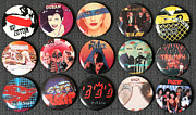 Punk Rock Music Posters - 80s Music Rock Pins Poster by Jt PhotoDesign