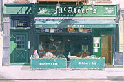 Irish Metal Prints - 80th and Amsterdam Avenue Metal Print by Anthony Butera