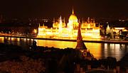 Gregory Dyer - Budapest Hungary Night Panorama