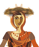 Byzantine Digital Art Metal Prints - 821 - Byzantine Metal Print by Irmgard Schoendorf Welch