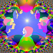 See Digital Art - 832 -  Here comes the sun by Irmgard Schoendorf Welch