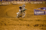 Supercross Framed Prints - 8487 Framed Print by Daniel  Knighton