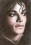 Celebrities Pastels Metal Prints - Michael Jackson Metal Print by Eliza Lo