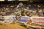 Supercross Framed Prints - 8740 Framed Print by Daniel  Knighton