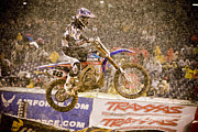 Supercross Framed Prints - 8801 Framed Print by Daniel  Knighton