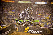 Supercross Framed Prints - 8813 Framed Print by Daniel  Knighton