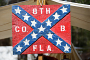 Confederate Flag Framed Prints - 8th Florida Company B Headquarters Framed Print by David Lee Thompson