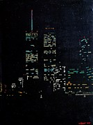 11 Wtc Painting Metal Prints - 9/10 Metal Print by TC VonRabbitt