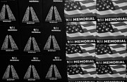 September 11 Wtc Digital Art Metal Prints - 9/11 MEMORIAL FOR SALE in BLACK AND WHITE Metal Print by Rob Hans