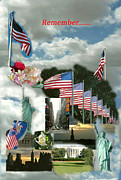 Dc-9 Framed Prints - 9-11 Remembrance Framed Print by Dody Rogers