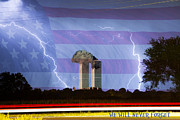 Lightning Bolts Metal Prints - 9-11 We Will Never Forget 2011 Poster Metal Print by James Bo Insogna