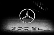 Mercedes Benz 300 Sl Classic Car Prints - 1955 Mercedes-Benz Gullwing 300 SL Emblem Print by Jill Reger