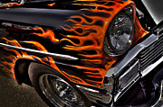 Custom Grill Photos - 1956 Chevy Bel Air by David Patterson