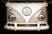 21 Prints - 1964 Volkswagen VW Samba 21 Window Bus Emblem Print by Jill Reger