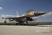 Featured Acrylic Prints - An F-16c Barak Of The Israeli Air Force Acrylic Print by Ofer Zidon