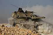 Featured Acrylic Prints - An Israel Defense Force Magach 7 Main Acrylic Print by Ofer Zidon