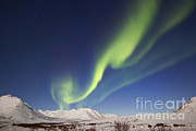 Aurora Borealis With Moonlight Print by Joseph Bradley