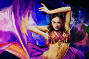 Bellydancer Framed Prints - Belly Dancer Framed Print by Corporate Art Task Force