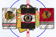 Ice Skate Prints - Chicago Blackhawks Print by Joe Hamilton