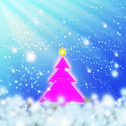 Backdrop Posters - Christmas Tree Poster by Atiketta Sangasaeng