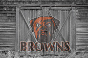 Offense Photo Framed Prints - Cleveland Browns Framed Print by Joe Hamilton