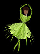 9 Green Ballerina Print by Andee Photography