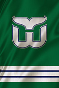 Hartford Whalers Prints - Hartford Whalers Print by Joe Hamilton
