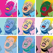 Billie Holiday Prints - 9 Holidays Print by Jeffries Moore