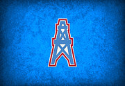 Houston Posters - Houston Oilers Poster by Joe Hamilton