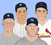 Baseball Mixed Media - 9-Inning Legends by Pharris Art