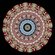 Circle Metal Prints - Kaleidoscope Colorful Jeweled Rhinestones Metal Print by Amy Cicconi