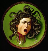 Gorgon Photo Posters - Merisi Michelangelo Known Poster by Everett