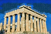 Summer Art - Parthenon temple by George Atsametakis