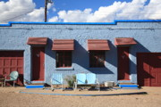 Gravel Road Prints - Route 66 - Blue Swallow Motel Print by Frank Romeo