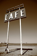 Business-travel Prints - Route 66 Cafe Print by Frank Romeo
