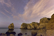 Startrail Photos - Starry Sky at Praia da Marinha by Andre Goncalves