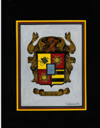 Coat Of Arms Paintings - Strobino Coat of Arms by Herb Strobino
