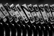 Antik Prints - Typewriter keys Print by Falko Follert