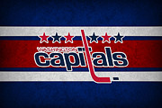 Puck Posters - Washington Capitals Poster by Joe Hamilton