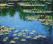 Jardins Painting Metal Prints - Water Lilies  Metal Print by Claude Monet