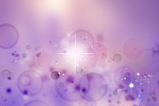 Purple. Stars Photos - Abstract background by Les Cunliffe