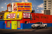 Viva Las Vegas Framed Prints - 911 Bail Bonds Framed Print by Gary Warnimont
